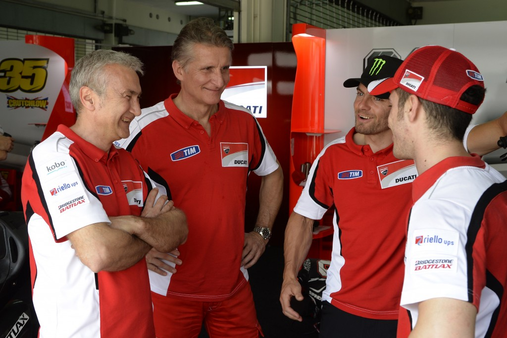 Ducati Corse. Smiles all around.